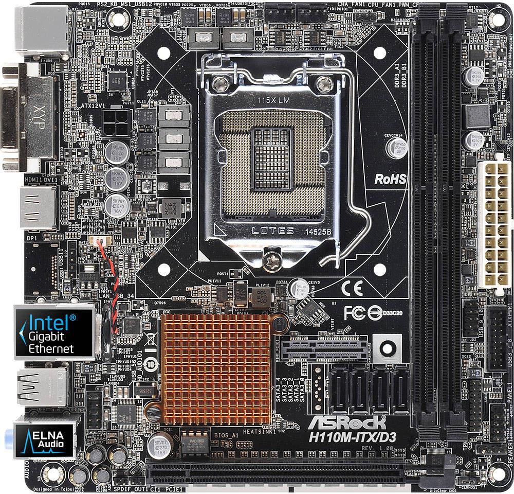 ASRock H110M-ITX/D3 Intel LAN Windows 8 X64