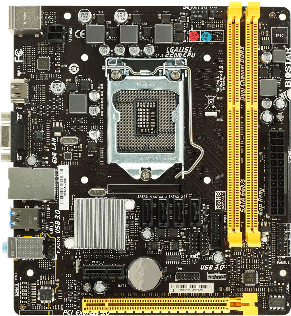 Biostar H110MHV3 - Motherboard Specifications On MotherboardDB