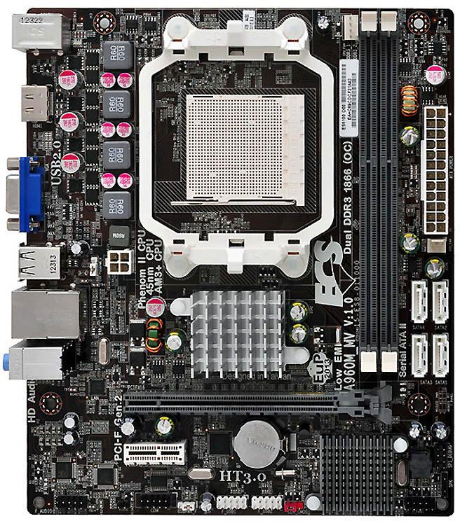 ECS A960M-MV Rev  2 0 - Motherboard Specifications On