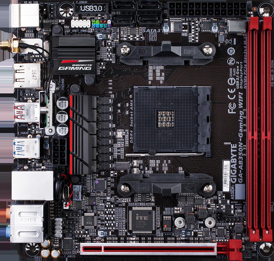 Gigabyte GA-AB350N-Gaming WIFI - Motherboard Specifications