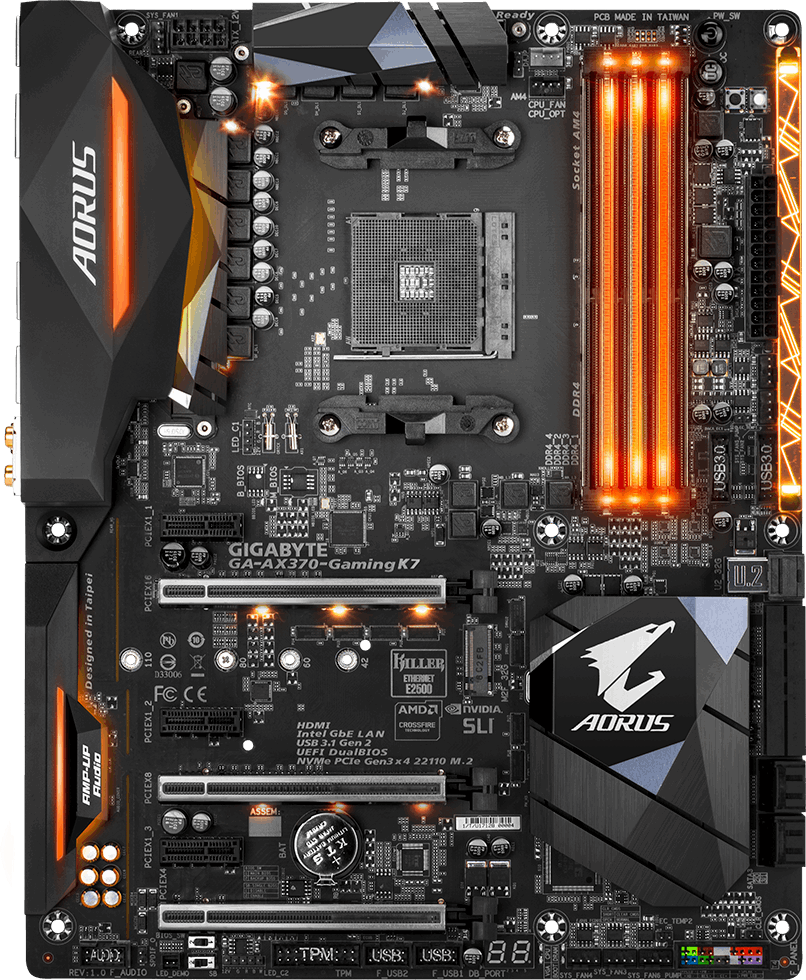 Gigabyte GA-AX370-Gaming K7 - Motherboard Specifications On