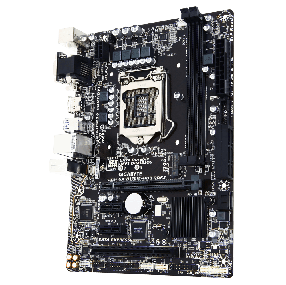 Gigabyte GA-H170M-HD3 DDR3 - Motherboard Specifications On ...