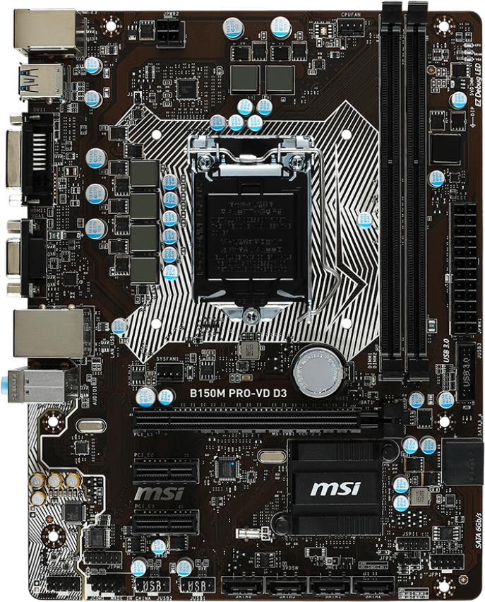 MSI B150M PRO-VD D3 - Motherboard Specifications On MotherboardDB on