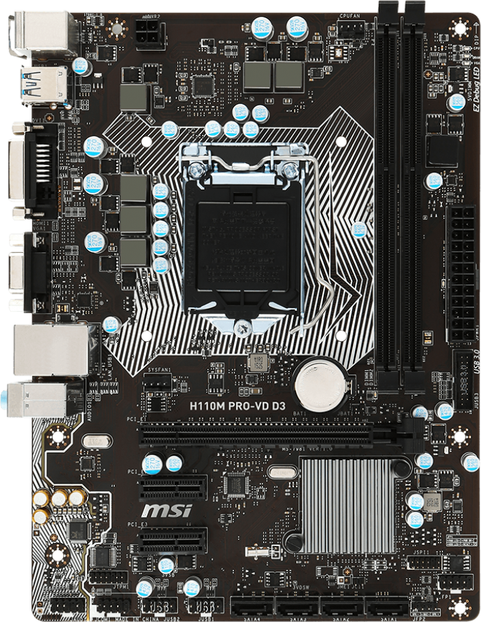 MSI H110M PRO-VD D3 Drivers Mac